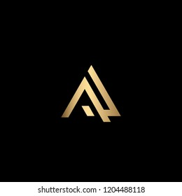 Minimal Letter AL Logo Design, Outstanding Professional Elegant Trendy Awesome Artistic Black and Gold initial Based Alphabet Iconic A L Logo Design