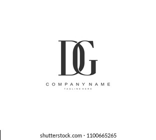 Minimal Letter DG Linked Logo Design