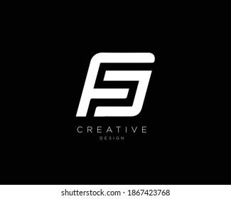 Minimal Letter FS FD Logo Design | FS Monogram