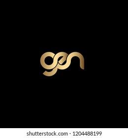 Minimal Letter GEN Logo Design, Outstanding Professional Elegant Trendy Awesome Artistic Black and Gold initial Based Alphabet Iconic G E N Logo Design