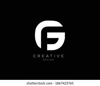 Minimal Letter GF FG Logo Design | GF FG Monogram