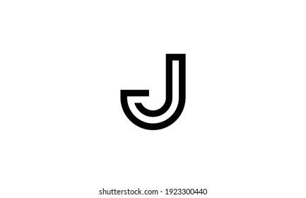 Minimal Letter J Initial Based Golden and Black color Logo Design. Letter J Monogram