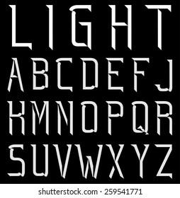Minimal Light font Part 1/2 ABC, Vector