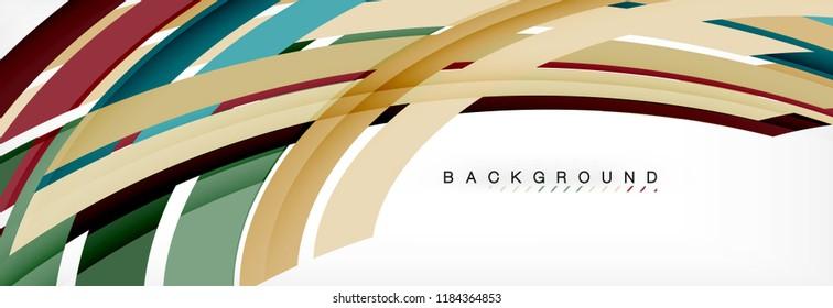 Minimal line design abstract background, vector illustration