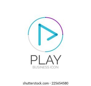 Minimal line design logo, business icon, branding emblem