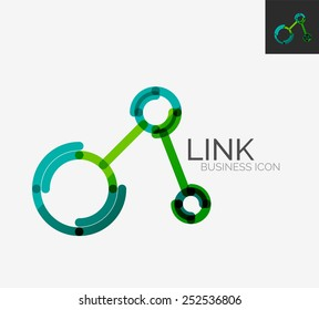 Minimal line design logo, business connection icon, branding emblem