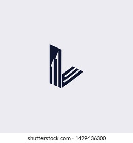 Minimal line letter initial L logo. elegant arrow shape font sign. Abstract logotype vector design template for personal identity branding, creative industry, web, business, corporate and company