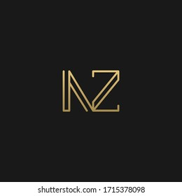 Minimal linear unique NZ initial based letter icon logo