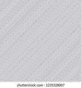 Minimal lines vector seamless pattern, abstract background. Simple geometric design. Diagonal parallel stripes. Single color, black and white.