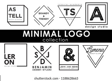 Minimal logo collection in black and white