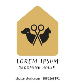 Minimal Logo for Grooming Shop, Pets Store, Pets Caring, Trimming Business for Pets
