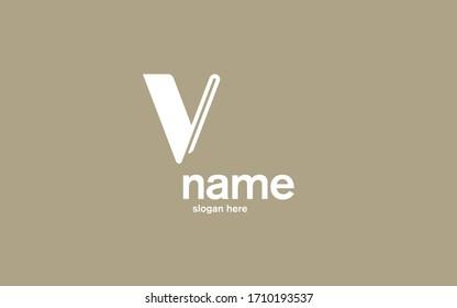 Minimal Logo V Letter Fashion Modern