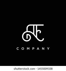 Minimal Luxury AE Initial Based White and Black color logo.
