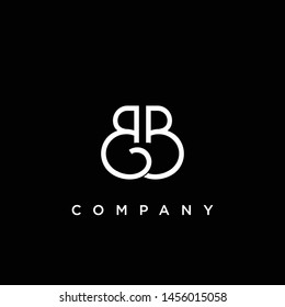 Minimal Luxury BB Initial Based White and Black color logo.