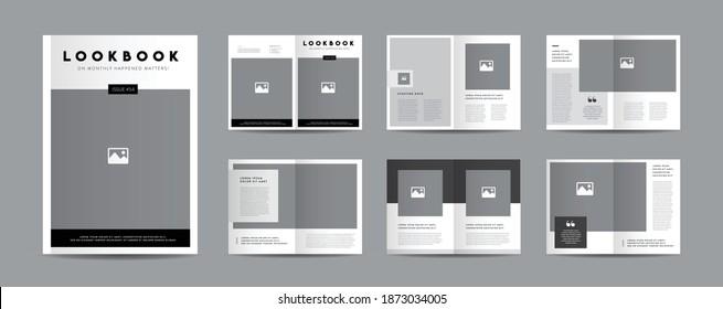 Minimal Magazine Design   Editorial Lookbook Layout   Fashion and Multipurpose portfolio   Photo Book Design
