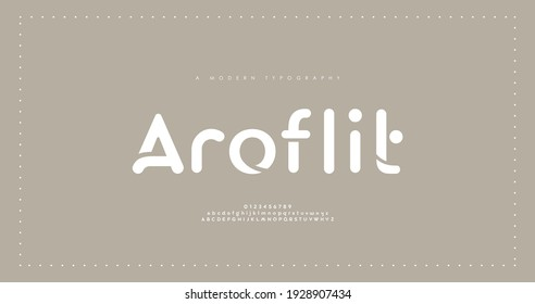 Minimal modern alphabet fonts. Typography minimalist urban digital fashion future creative logo font. vector illustration