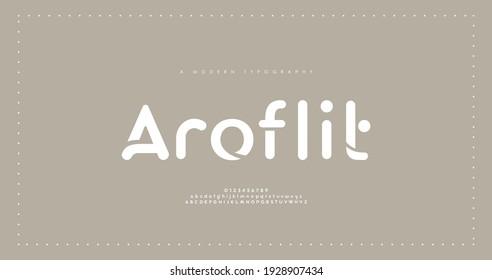 Minimal modern alphabet fonts. Typography minimalist urban digital fashion future creative logo font. vector illustration - Shutterstock ID 1928907434