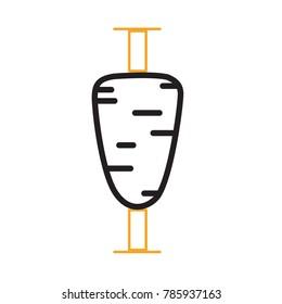 Minimal Modern Cool Doner Gyros Shawarma Logo Icon Emblem