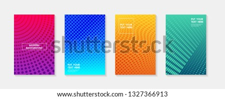 Minimal modern cover design. Dynamic colorful gradients. Future geometric patterns. poster template vector design.
