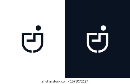 Minimal modern elegant line art letter EJ logo. This logo icon incorporate with letter E and J in the creative way.