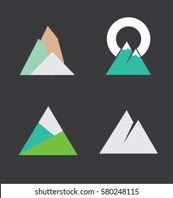 Minimal and Modern Mountain Logo Set