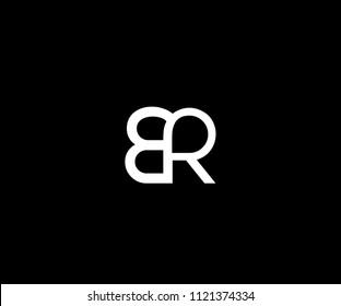 Minimal Monogram BR Logo