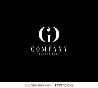 Minimal Monogram Elegant GD Logo