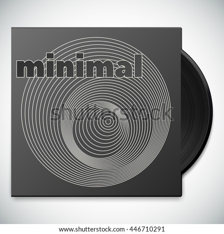 Minimal Music Album Cover Design Vinyl Stock Vector Royalty Free
