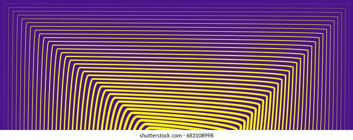 Minimal narrow covers texture. Future geometric design. Minimalist hipster texture. Purple in yellow stripes. Abstract geometric narrow horizontal striped pattern. Vector illustration.