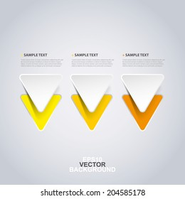 Minimal Paper Cut Infographics Design  - Triangles