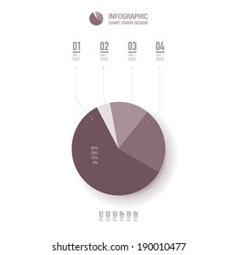 Minimal percentage diagram design can be used for workflow layout, diagram, chart, pie, number options, presentation, web design. Eps 10 vector illustration