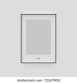 Minimal picture frame with beautiful circles design and sample text. Eps 10 stock vector illustration