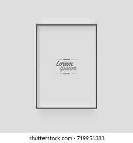 Minimal picture frame design with sample text Eps 10 stock vector illustration