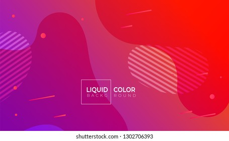 Minimal poster. Liquid gradient color abstract geometric background.