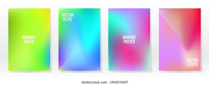 Minimal Poster. Pastel Soft. Rainbow Gradient Set. Graphic Color Background. Blurred Mesh Texture. Vector Modern Banner. Abstract Bright Wallpaper. Gradient Technology Cover. Mobile Template Design.