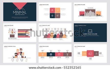 minimal presentation slide templates business brochures のベクター