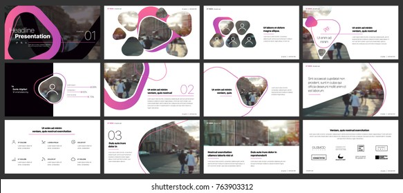 Minimal presentation templates elements on a white background. Vector infographics. Use in Presentation, flyer and leaflet, corporate report, marketing, advertising, annual report, banner.