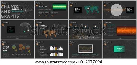 minimal presentation templates tech elements on stock vector