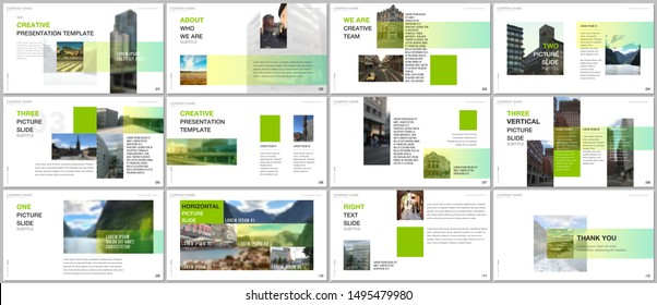 Minimal presentations design, portfolio vector templates with colorful gradient design geometric trending elements. Multipurpose template for presentation slide, flyer leaflet, brochure cover, report.