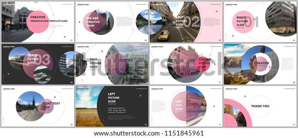 白い背景に円のエレメントを持つ、最小限のプレゼンテーションデザイン、ポートフォリオベクター画像テンプレート。プレゼンテーションスライド、チラシ、パンフレットカバー、レポート、マーケティング用の多目的テンプレート