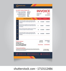 minimal professional business invoice template design