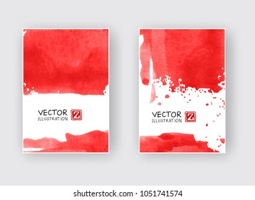 3cd8804640 Minimal Red Covers Design Cool Paint Stock Vector (Royalty Free ...