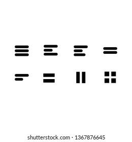 Minimal Set of Hamburger Menu Flat Icons.-vektor