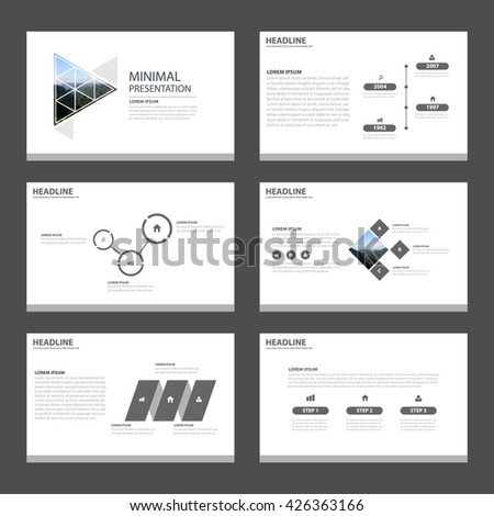 minimal simple presentation templates infographic elements stock