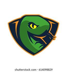 minimal snake sports logo mascot