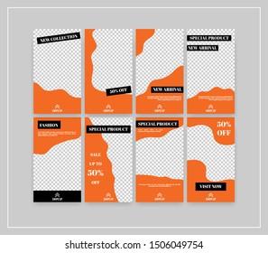 Minimal social media banner template pack