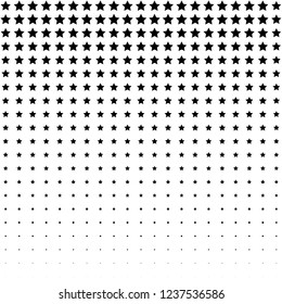 Minimal stars background for comic illustrations. Black and white colors. Vertical halftone texture.