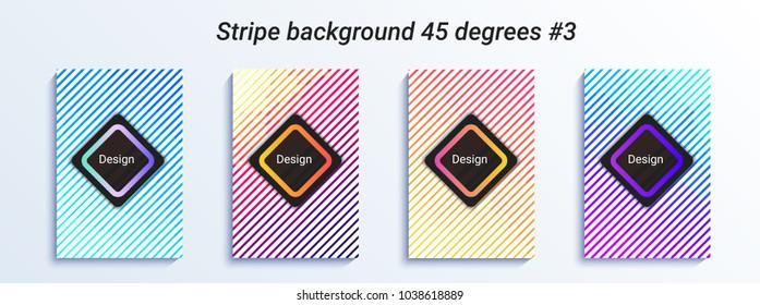 Minimal striped bakcground design. Colorful halftone gradient. Bright geometric pattern. Vector illustration for book, dance banner, poster