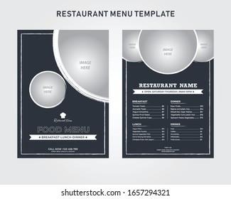 Minimal style restaurant menu, flyer, brochure template design