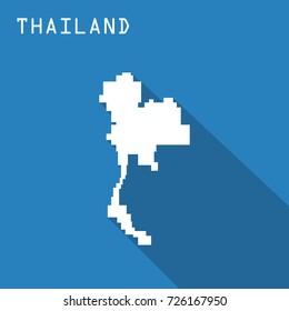 minimal thailand map design; square map concept
